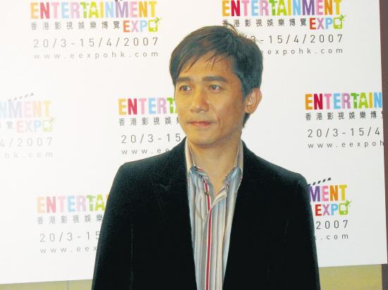 伟仔3月在香港影视展上已因刘嘉玲面露忧郁之色.